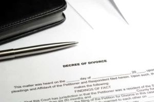 Decree of divorce paper